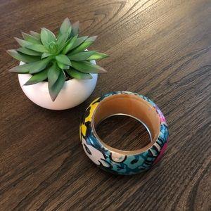 Large Acrylic Floral Bracelet